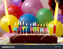 candle balloon birthday cake candles lit balloons on stock photo 59466796
