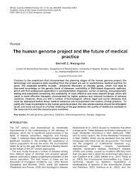 the human genome project and the future of medical practice pdf