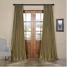 Light Silver Curtains Faux Silk Curtains Light Silver Solid Woodio