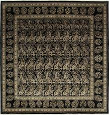 Ottoman Carpet Rugs One Of A Ottoman Knotted Black Area Rug