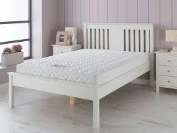 devon 6ft super king size wooden bed in white
