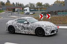 devil z vs blackbird spied toyota supra sheds more camouflage reveals taillights