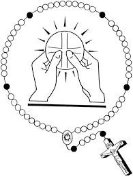 holy eucharist rosary catholic coloring catholic