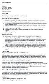 Best Marketing Resumes by Marketing Resume Will Be All About On How A Person Can Make The