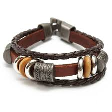 leather women bracelet images Men women brown punk bracelet vintage leather bangle wrist at banggood jpg