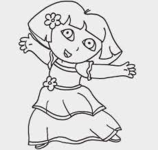 colour drawing free wallpaper princess dora coloring drawing free