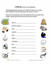 onomatopoeia worksheets u0026 activities greatschools reading