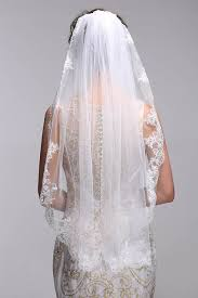 wedding veils george simple elegent lace appliques wedding veil one size