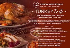 turkey to go pat quinn s restaurant bar tsawwassen bc