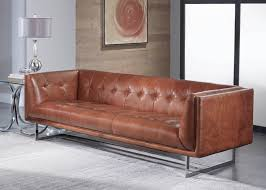 Cognac Leather Sofa by Teague 1440 Leather Sofa In Vintage Cognac Sofas And Sectionals