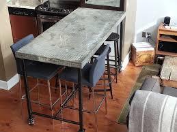 concrete top bar table concrete dining table h h bespoke concrete top tables