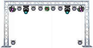 Truss Lighting Concert Live Band Light Show With Three Effects Eight Par 64 U0027s