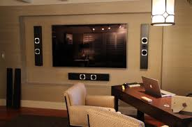 best home theater systems home entertainment with samsung tv u0026 totem tribe iii on wall