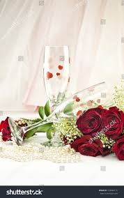 two beautiful valentine wine glasses red stock photo 158044115