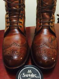 used motorcycle boots mirrored spit shined allen edmonds dalton walnut boots saphir
