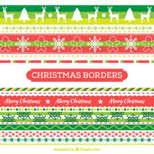 colorful christmas borders vector free download