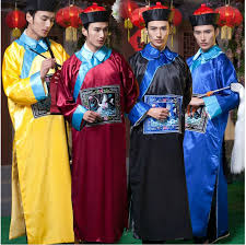 Halloween Costume Zombie 2017 Qing Dynasty Eunuch Male Clothing Costume Apparel Clothing