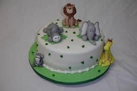 jungle animals baby shower cakes