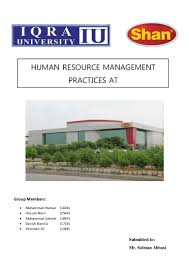 human resource management presentation shan foods