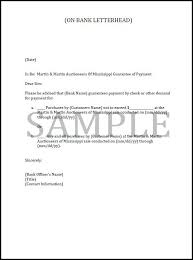 guarantee letter bank doc type letter of guarantee against