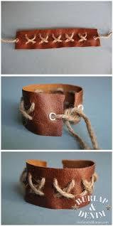 leather bracelet craft images Diy leather bracelets burlap denimburlap denim jpg
