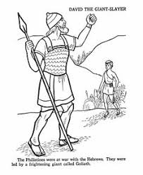 david and goliath coloring pages teaching children about god