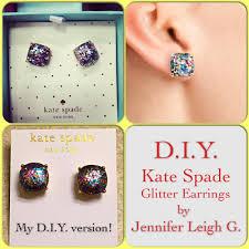 glitter stud earrings diy kate spade glitter earrings leigh gc