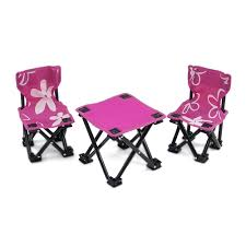 american doll table and chairs inch doll accessories two pink armless cing chairs and table
