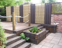 Railway Sleepers Garden Ideas Decking Projects With Railway Sleepers