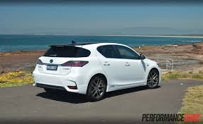 lexus sports car white lexus ct 200h f sport review video performancedrive