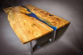 table de cuisine en bois massif table rivière en bois massif meubles et décoration tunisie
