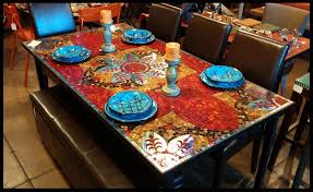 ceramic tile table top wholesale mosaic dining tables