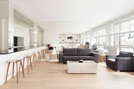 cuisine ouverte sur sejour salon une pièce à vivre contemporaine réalisation cda design salon