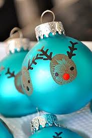 handprint crafts for reindeer ornaments