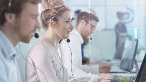 Customer Service Call Centre by 4k Portrait Smiling Customer Service Operator Taking Calls In Busy