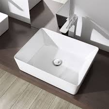 bathroom counter top mounted square luxury wall gloss white