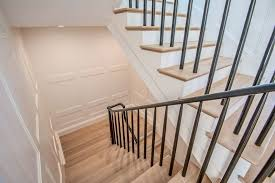 Recessed Handrail Los Angeles Black Stair Railing Staircase Transitional With Metal