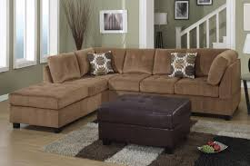 sofa with reversible chaise lounge furniture microfiber sectional leather and suede sectional