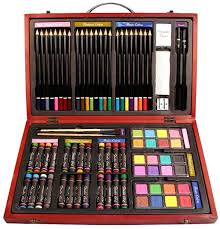 amazon com nicole studio art u0026 craft supplies set in wood box for