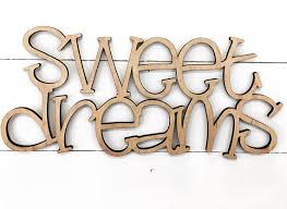 sweet dreams wooden wall word sign wooden word wooden words