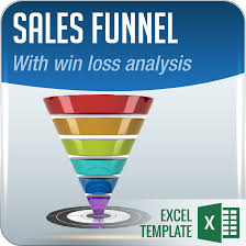 sales funnel excel template with win loss analysis 101 business