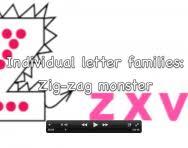 correct letter formation video zig zag monster letters