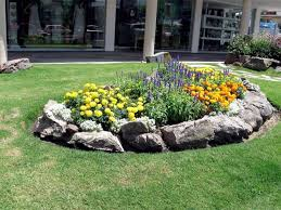 outdoor u0026 gardening large rock flower bed borders