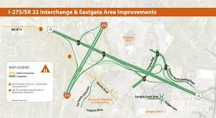 Interstate Map Interstate 275 Sr 32 Interchange Improvements The Clermont