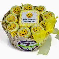 Cookie Gift Baskets Basket Of Smiles Gift Basket Shipped Nationwide