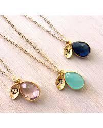 gold filled necklace images Slash prices on birthstone initial necklace 14k gold filled