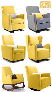 Rocking Chairs And Gliders For Nursery Endearing Monte Modern Nursery Furniture Glider Rocker Yellow New