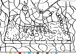animal color by number color by number lobster coloring pages