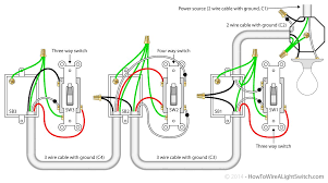4 way switch with power feed via the light how to wire a light