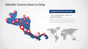 Map Centro America by Central America Maps Templates